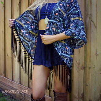 boho trendy fall outfits fall trends cardigan boho chic fringes kimono fringe kimono fall kimono tribal pattern tribal print sweater