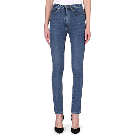 SAINT LAURENT - Skinny high-waist stretch-denim jeans | Selfridges.com