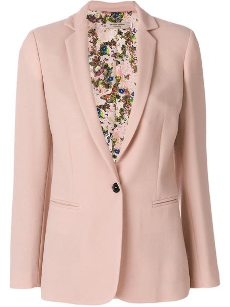 PICCIONE.PICCIONE blazer women classic silk wool purple pink jacket