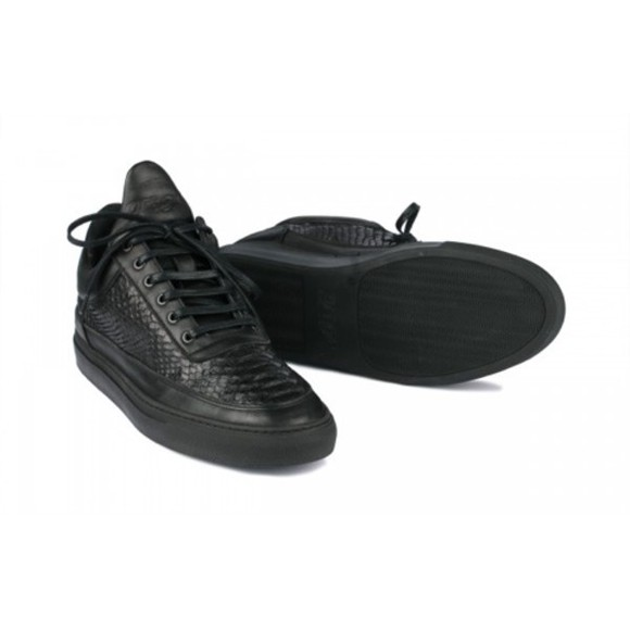 shoes mens shoes black leather black shoes fashion sneakers all black fillingpieces
