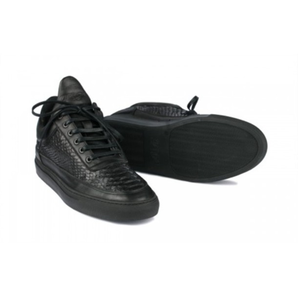 Shoes: black, black shoes, leather, fashion sneakers, all black ...