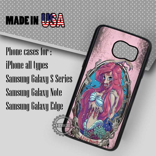 Samsung S7 Case - Zombie Disney Princess- iPhone Case #SamsungS7Case #TheLittleMermaid #yn