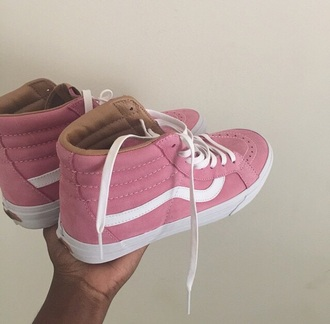 shoes vans pink white cute