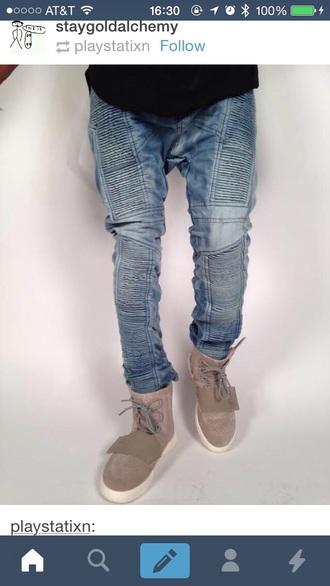 jeans pants blue jeans meech meach designer