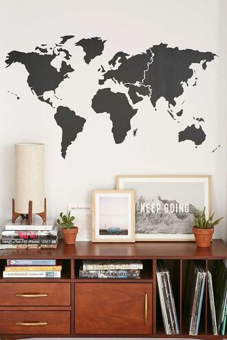 home accessory map print wall decor college living room lamp frame wood home stickers photography home furniture