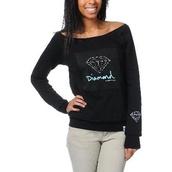 sweater,diamond supply co.,black sweater