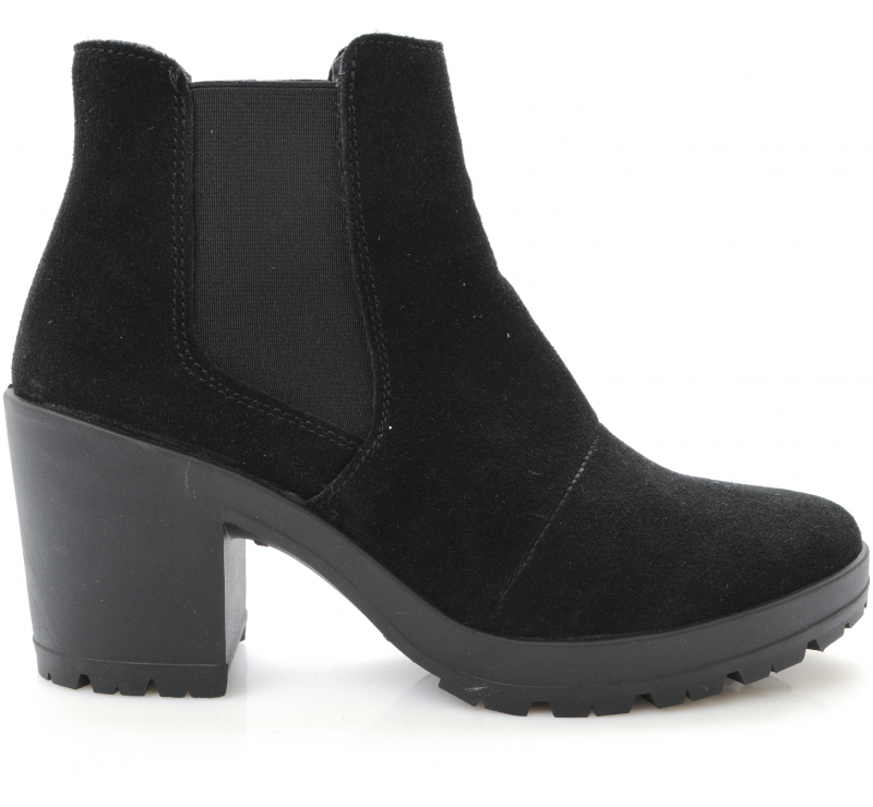 Suede boot with chunky heel height from Bianco