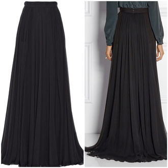 maxi skirt black long chiffon skirt red lime sunday