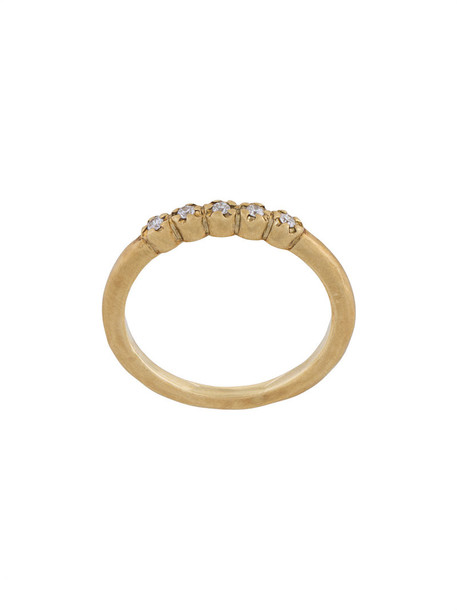 Hum women diamonds ring gold grey metallic jewels