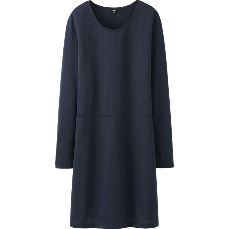 WOMEN DRAPE DRESS   | UNIQLO