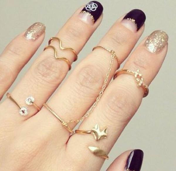 jewels gold nail polish