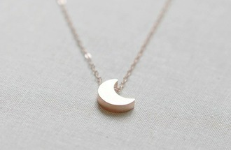 jewels collier gold moon lune collier en or minimalist jewelry