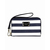 Navy white saffiano Michael Kors Striped iPhone 5, 4S and 4 Zip Wallet
