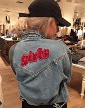 jacket,girl,tumblr,instagram,blue jean jacket