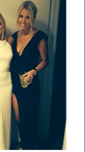dress,long black dress,formal dress,black,maxi dress