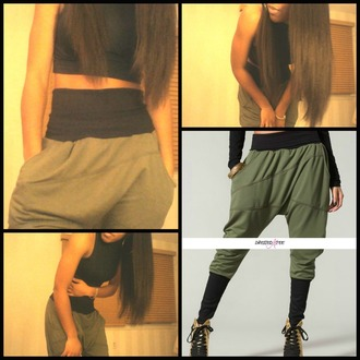 pants olive green joggers swag dope style streetwear streetstyle edgy instagram trendy athletic urban harem boyish clothes