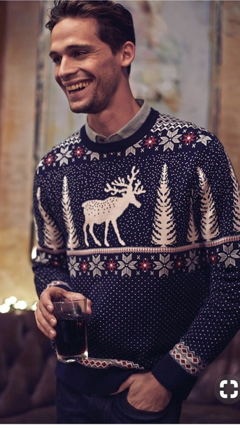 sweater deer christmas sweater white red christmas sweater crewneck sweater navy knitwear festive knit