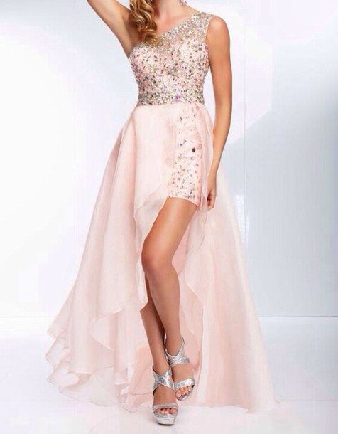 Appglecturas: Light Pink High Low Prom Dress Images