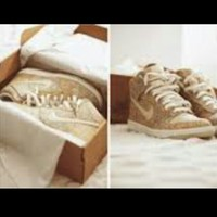 GOLD GLITTER NIKE HIGH TOP on The Hunt