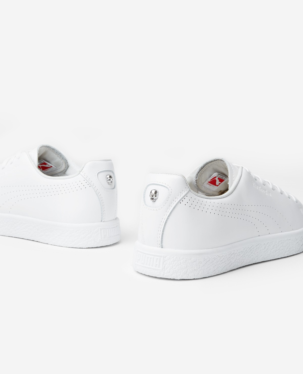 36db6522c79 The Kooples United States Official Website - White Puma x The Kooples Clyde  sneakers