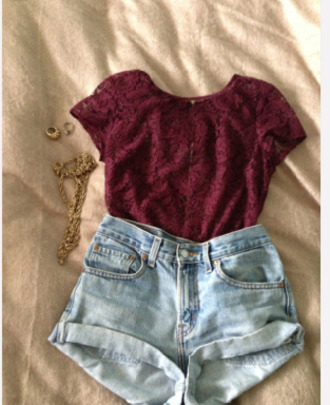 classy blouse burgandy skirt circle skirt