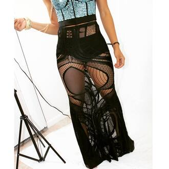 shirt mesh spandex black see through skirt stretch mesh skirt fishnet skirt panel skirt fishnet panel skirt fishnet and mesh panel skirt knit fishnet skirt net