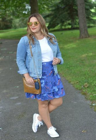 mommyinheels blogger jacket skirt top shoes bag sunglasses