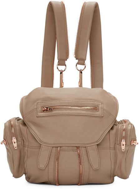 Alexander Wang mini backpack brown bag