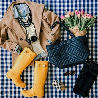 kelly in the city - a preppy chicago life style and fashion blog blogger coat shirt bag sweater shoes jeans sunglasses