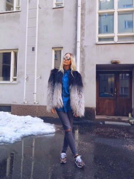 martina m blogger coat shoes jeans shirt