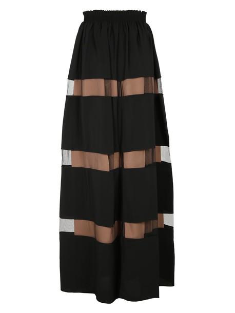 N.21 skirt striped skirt black