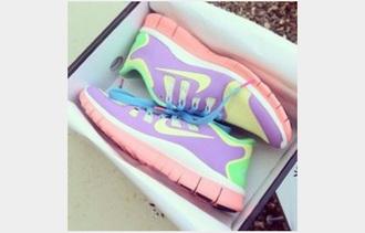 shoes nike pastel free runs 3