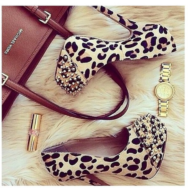 shoes animal print high heels heels
