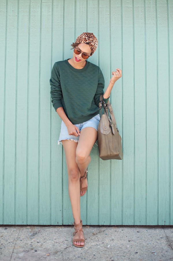 style me grasie sweater shorts sunglasses bag shoes