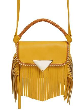 mini bag shoulder bag leather yellow