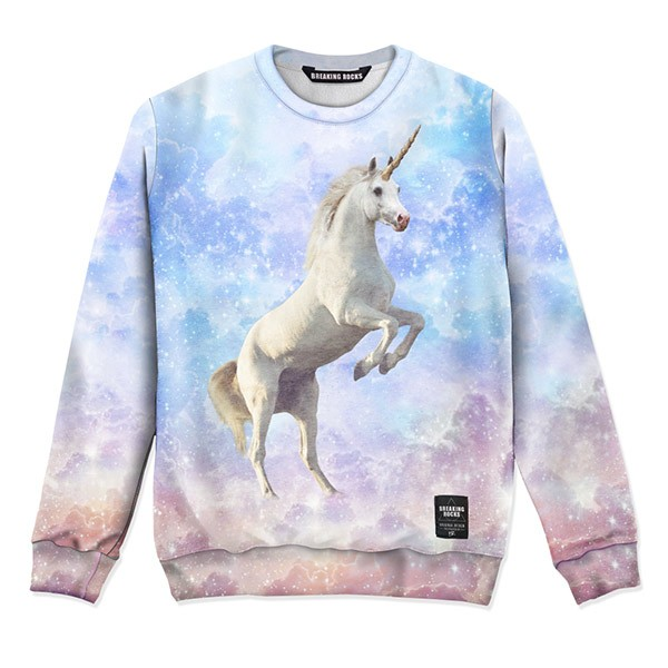Intergalactic Unicorn Sweater | Breaking Rocks Clothing | Crazy comfortable full printed clothing.