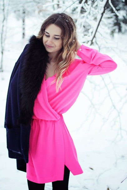lilissss blogger jacket pink dress dress