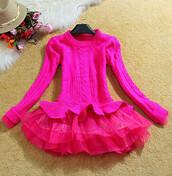 sweater,maries boutique,jumper,jumpsuit,dress,romper,pink,tutu,tutu jumper,warm,wool
