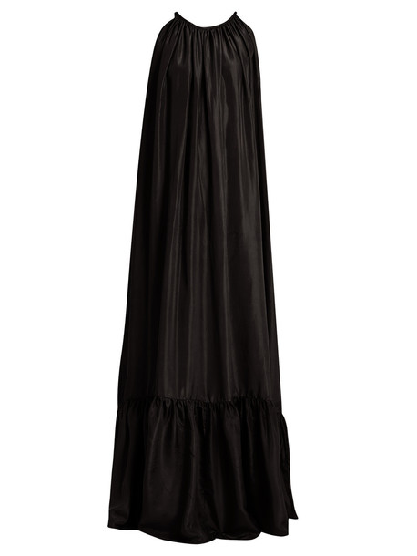 ac7a30283d KALITA Brigitte silk-habotai maxi dress in black - Wheretoget