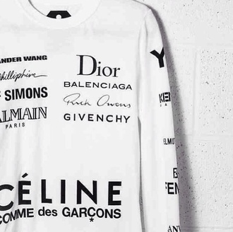 sweater white fashion brands givenchy balenciaga rick owens white sweater