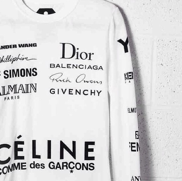 balenciaga sweater white dior celine commesdesgarcons brands givenchy jersey fashion brands givenchy rick owens white sweater