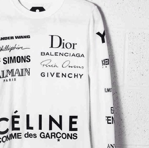 sweater white fashion brands givenchy balenciaga rick owens white sweater