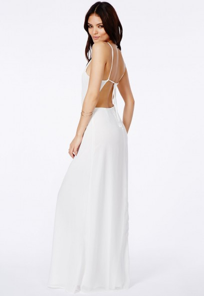 Pascaline high neck strappy maxi dress
