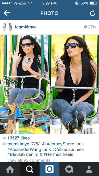 shirt kim kardashian sunglasses