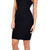 Glamorous - Black Square Front Jersey Midi Dress | Emprada