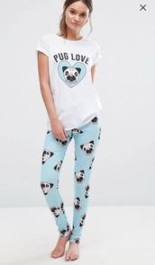 jumpsuit,pajamas,pugs,asos,sleep