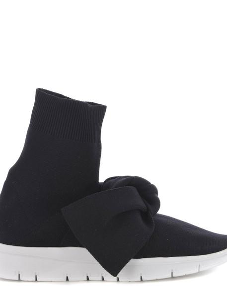 Joshua Sanders Bowtie Hi-top Sneakers in nero