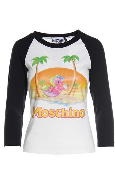 Moschino t-shirt shirt t-shirt cotton top