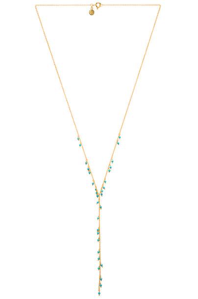 gorjana Lagoon Lariat Necklace in gold / metallic