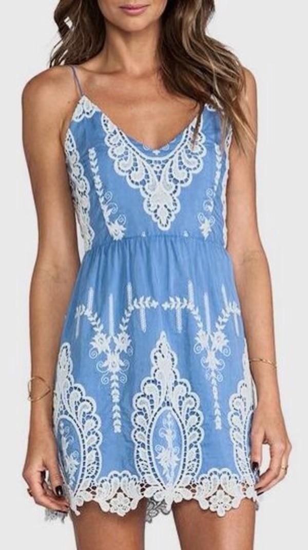 dress blue dress light blue lace lace dress boho boho boho dress